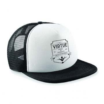 Kids Black and White Virtue Trucker Hat